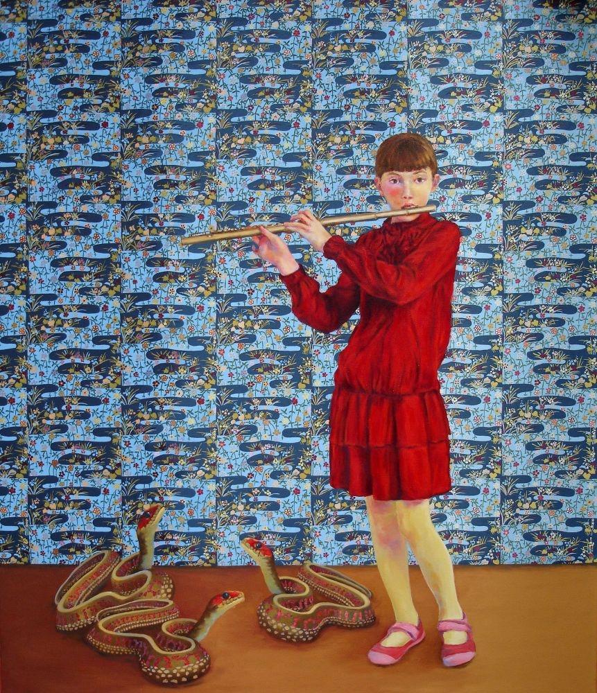 Die-Flotenspielerin-130x110cm-2015-